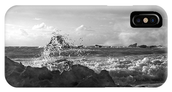 Carribbean iPhone Case - Seascape In Black And White by Betsy Knapp