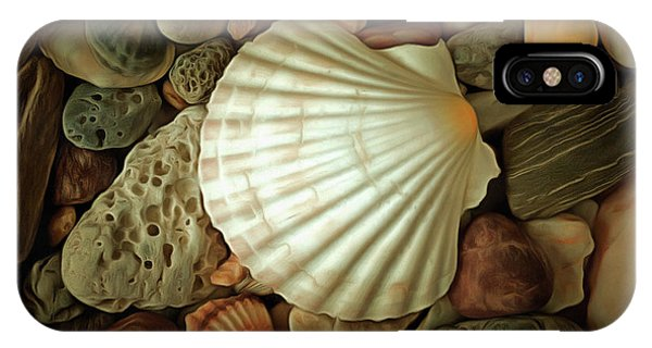 iPhone Case - Seashell On Sea Pebbles by Michal Boubin