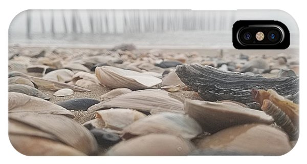 IPhone Case featuring the photograph Seashells At The Pier by Robert Banach