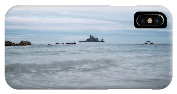 IPhone Case featuring the photograph Seastacks And Seagulls by Sharon Seaward