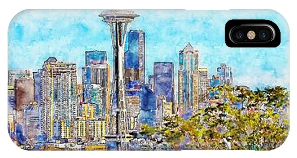 Downtown Seattle iPhone Case - Seattle, Washington by ArtMarketJapan