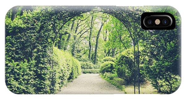 Garden Wall iPhone Case - Secret Garden In Vintage Style by Lukaszimilena