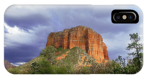 IPhone Case featuring the digital art Devil's Mountain by Christopher Meade