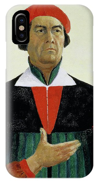 Russian Impressionism iPhone Case - Self Portrait, 1933 by Kazimir Malevich