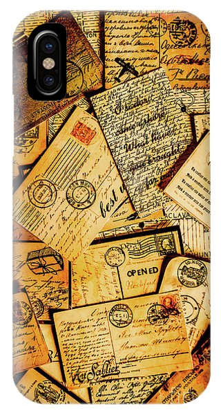 Ink iPhone Case - Sentimental Writings by Jorgo Photography - Wall Art Gallery
