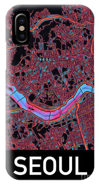 Seoul City Map IPhone Case