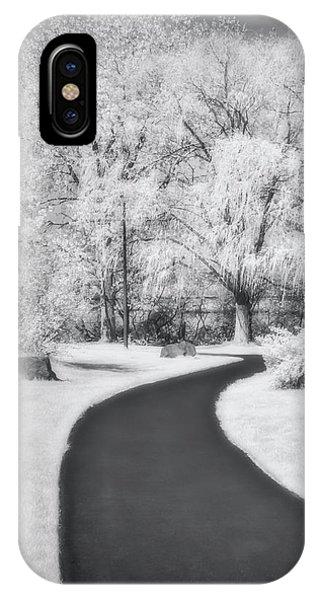 iPhone Case - Serene Path Bw by Susan Candelario