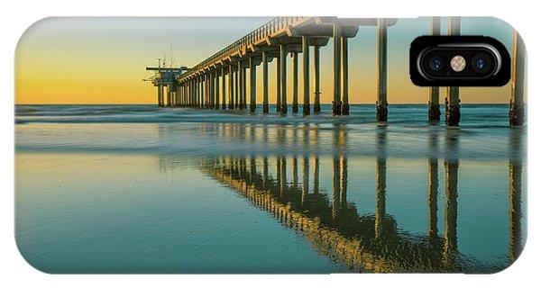 Scripps Pier iPhone Case - Serenity Scripps Pier La Jolla San Diego by Edward Fielding