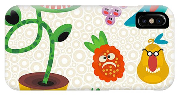 Danger iPhone Case - Set Of Cute Plant Monsters. Vector by Eka Panova