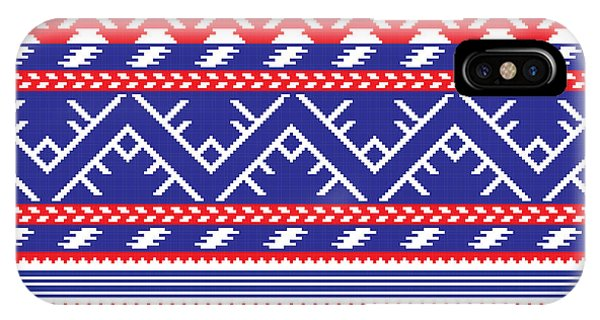 Needles iPhone Case - Set Of Ethnic Ornament Pattern In by Zinaida Zaiko