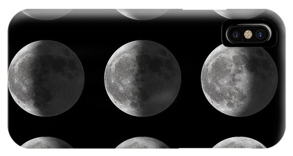 Full Moon iPhone Case - Set Of Moon Phases For New, Half, And by David Carillet