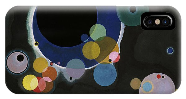 Illusion iPhone Case - Several Circles - Einige Kreise by Wassily Kandinsky
