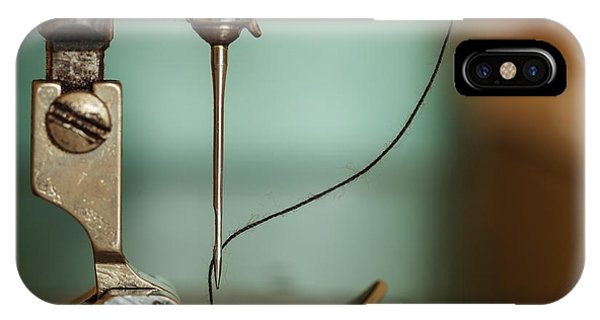 Needles iPhone Case - Sewing Machine And Thread Rolling by Dollatum Hanrud