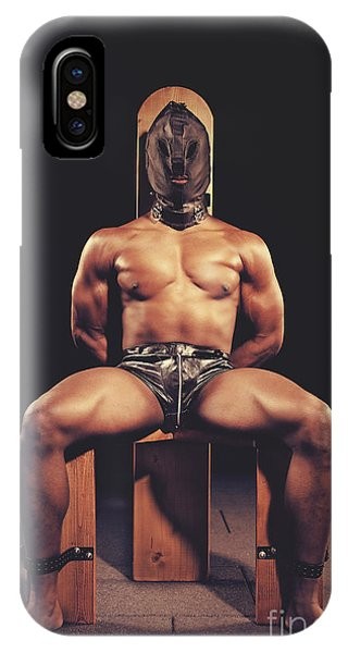 Sexy Man Tiedup On A Bdsm Chair IPhone Case