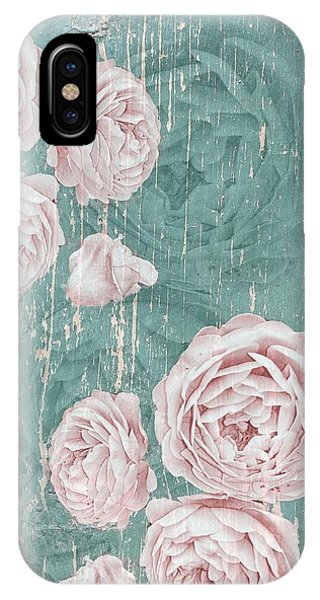 Shabby Chic Roses Distressed IPhone Case