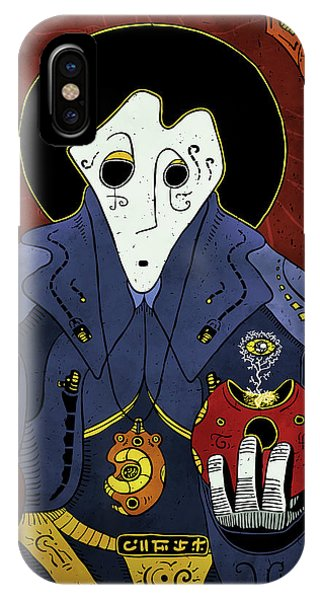 IPhone Case featuring the painting Shadow Priest by Sotuland Art