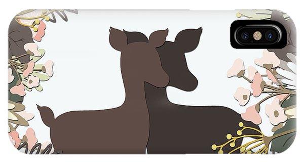 Shadowbox Deer IPhone Case