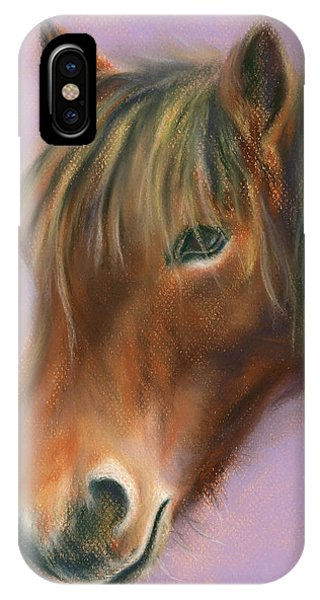 Shaggy Brown Pony IPhone Case