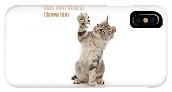 IPhone Case featuring the photograph Shakespeare Cat - Alas Poor Yorick by Warren Photographic