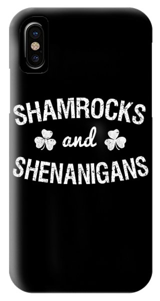St. Patricks Day iPhone Case - Shamrocks And Shenanigans St Patricks Day by Flippin Sweet Gear