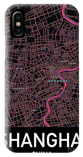 Shanghai City Map IPhone Case