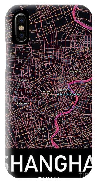 Shanghai City Map IPhone Case