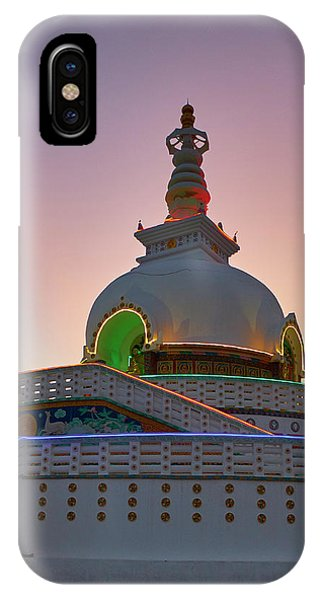 IPhone Case featuring the photograph Shanti Stupa by Whitney Goodey