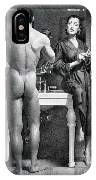 Gay Men iPhone Case - Shaving by Miro Gradinscak