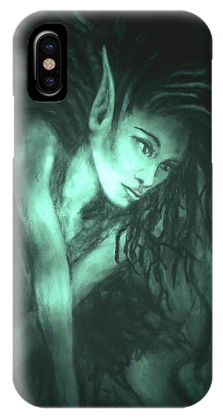 She iPhone Case - She Indwells Through The Shades Of Night by Zoe Oakley