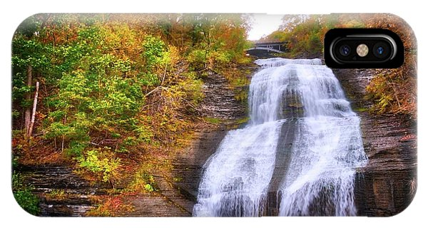 IPhone Case featuring the photograph She-qua-ga - Montour Falls - Finger Lakes, New York by Lynn Bauer