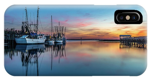 Shem Creek Blue Hour, Mt. Pleasant Sc IPhone Case
