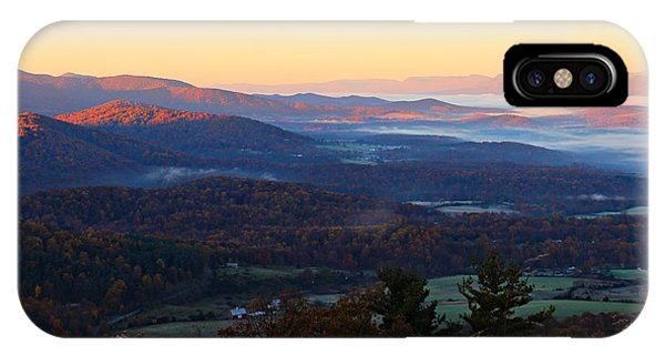 IPhone Case featuring the photograph Shenandoah Mountains by Candice Trimble