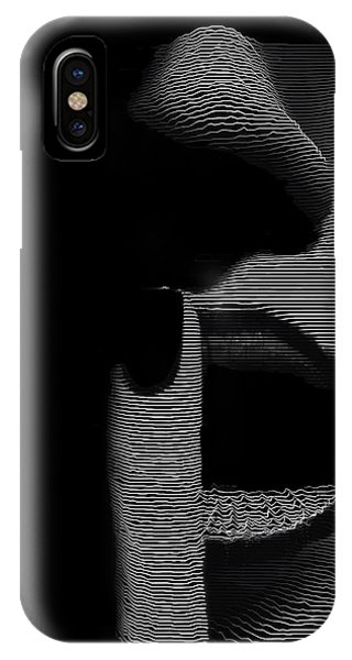 IPhone Case featuring the digital art Shhh by ISAW Company