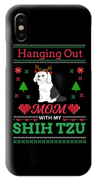ugly christmas sweater iphone case shih tzu ugly christmas sweater xmas gift by teequeen2603
