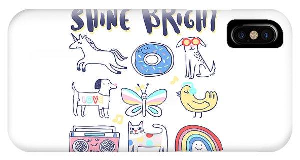 Shine Bright - Baby Room Nursery Art Poster Print IPhone Case