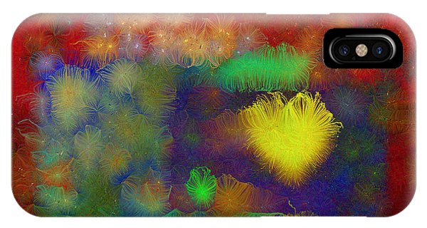 IPhone Case featuring the mixed media Shining Heart Of The Sun by Aberjhani