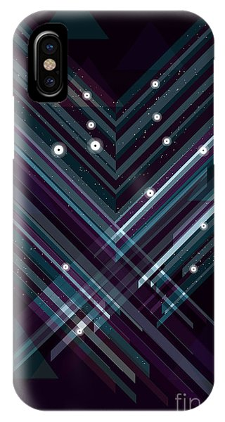 Space iPhone Case - Shiny Triangle Background. Eps10 File by Transfuchsian