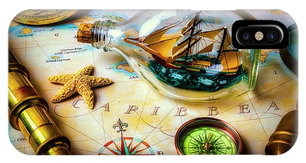 Navigation iPhone Case - Ship In A Bottle Still Life by Garry Gay