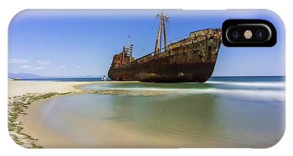 Shipwreck Dimitros Near Gythio, Greece IPhone Case