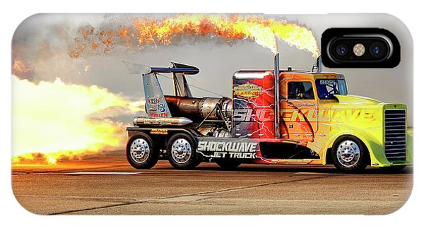 IPhone Case featuring the photograph Shockwave Jet Truck - Nhra - Peterbilt Drag Racing by Jason Politte