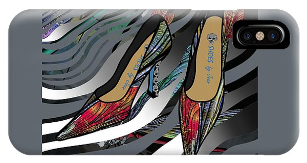 Shoes By Joan - Dragon Fly Wing Pumps IPhone Case