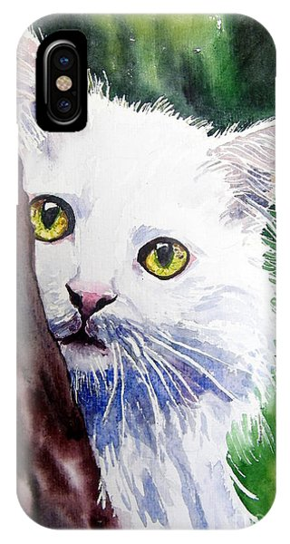 Kitten iPhone Case - Shy One by Suzann Sines