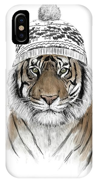 Winter iPhone Case - Siberian Tiger by Balazs Solti