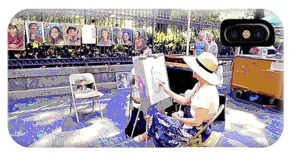French Painter iPhone Case - Sidewalk Artist by A Gurmankin