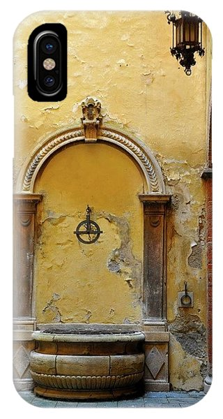 Sienna Fountain Courtyard IPhone Case