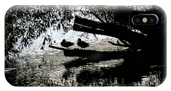 Silhouette Ducks #h9 IPhone Case