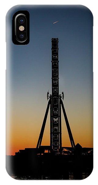 Silhouette Of A Ferris Wheel IPhone Case