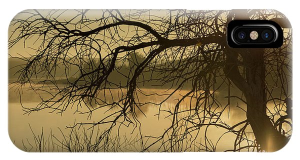Silhouette Of A Tree By The River At Sunrise IPhone Case