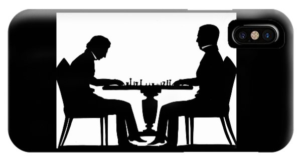 Silhouette Of Chess Players, Around 1845 IPhone Case