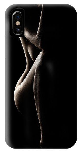 Nude iPhone Case - Silhouette Of Nude Woman by Johan Swanepoel
